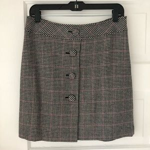 Ann Taylor Loft NWT houndstooth lined mini skirt 4